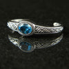 DeAcoma Triple Weave Cuff with Blue Topaz
