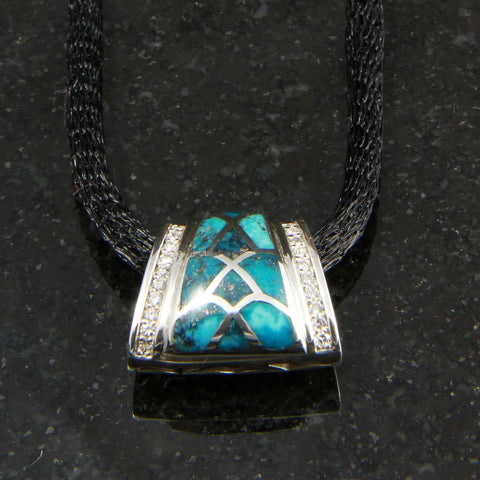 DeAcoma Convergence Pendant with turquoise