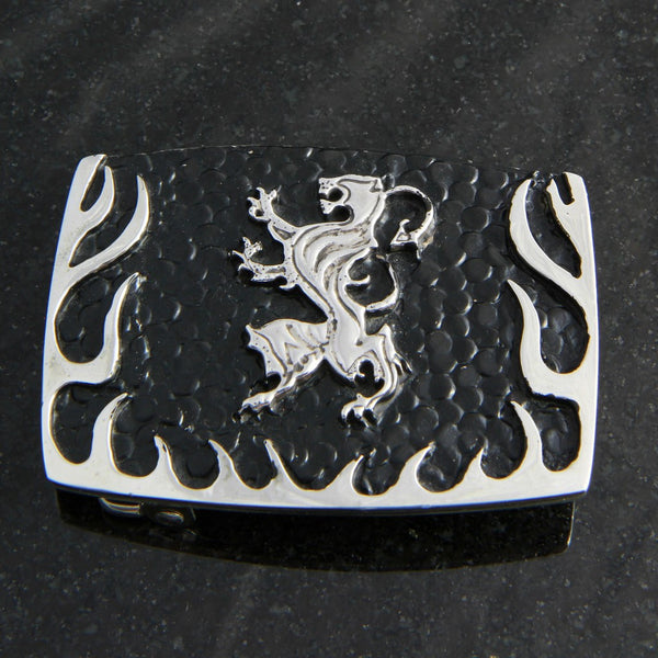 Lion Logo with Flames Belt Buckle