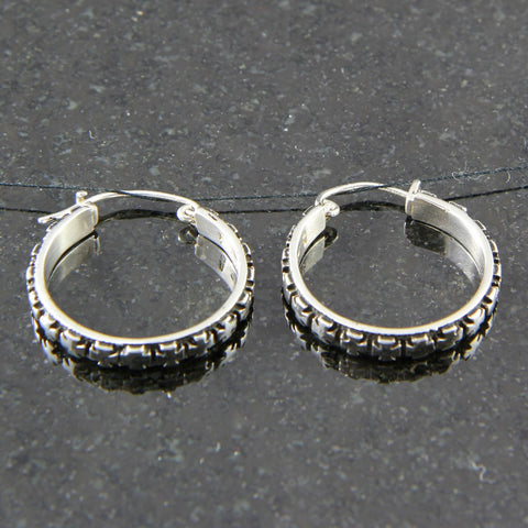 Maltese Cross Hoop Earrings