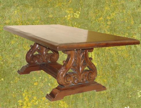 Spanish Revival Style Table hand carved solid wood