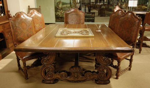 Spanish Revival California Style Dining Table and Portuguese chairs