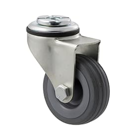 65mm Grey Rubber Bolt Hole Castor