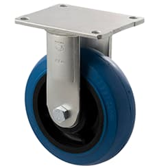 150mm Blue Rubber Fixed Plate Castor