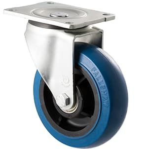 150mm Blue Rubber Castors - 400KG Rated