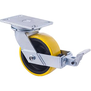 150mm Polyurethane Cast Iron Castors - 1000KG Rated