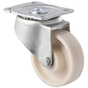 100mm Glass Reinforced Nylon High Temperature Wide Hub Castors - 129mm Mount Height