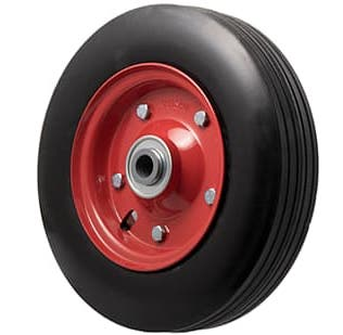 280mm Black Rubber Tyre Wheel - 200KG Rated