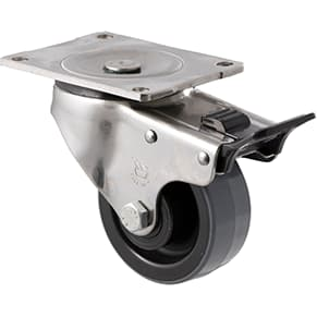 100mm Polyurethane Stainless Steel Castors - 300KG Rated