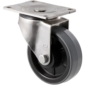125mm Polyurethane Stainless Steel Castors - 350KG Rated