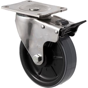 150mm Polyurethane Stainless Steel Castors - 450KG Rated