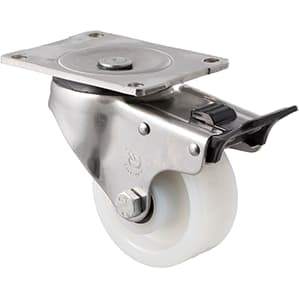 100mm Nylon Stainless Steel Castors - 350KG Rated