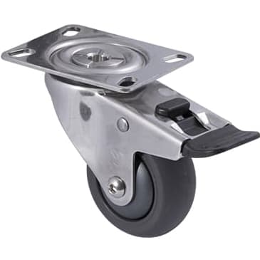 75mm Polyurethane Stainless Steel Castors - 200KG Rated