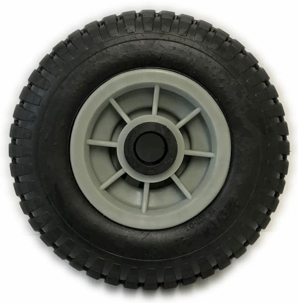250-4 Solid Rubber Tyre on Grey Rim