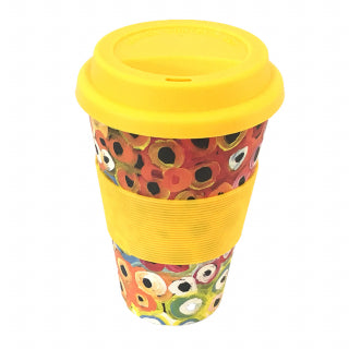 Utopia Bamboo Coffee Cup - Lena Pwerle - Yellow