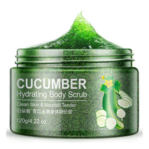 Exfoliating Body Scrub with Shea Butter, Cucumber or Almond