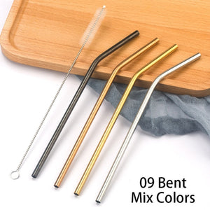 Stainless Steel Straws With Cleaner Brush Set