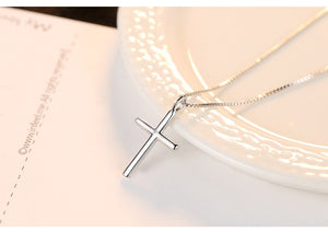 Classic Silver Cross Necklaces