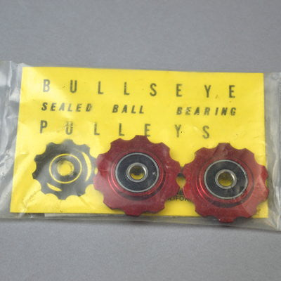 Bullseye sealed bearing pulleys- Red