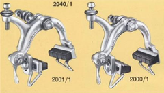 Campagnolo Record long reach brakes with drop bolt