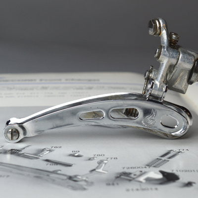 "Campagnolo Record Front derailleur ""3 holed"""