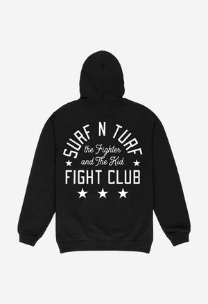 Black Surf N' Turf Fight Club Hoodie