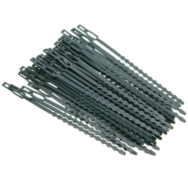 Adjustable 50pc/lot Plastic Plant Cable Ties