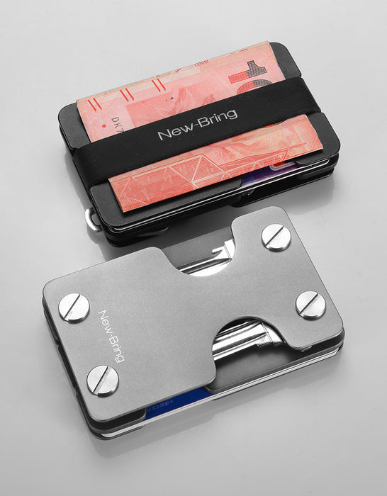 Multi-functional Metal Money Clip Men with Credit Card Wallet and key holder