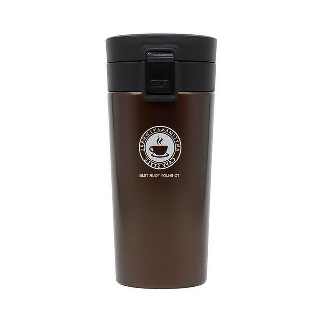 Portable Travel Coffee Mug Vacuum Flask Thermo Water Bottle Stainless Steel