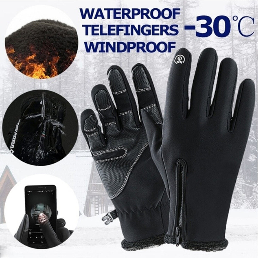 Unisex Riding Winter Touch Screen Snow Windstopper Glove