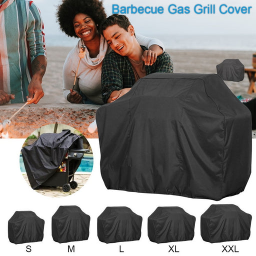 Bache Barbecue Black Waterproof BBQ Cover Outdoor Rain Grill
