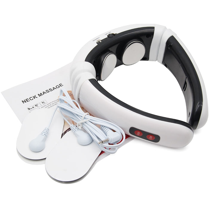 Electric Pulse Back and Neck Massager Far Infrared Pain