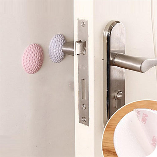 2Pcs Rubber Home Door Doorknob Back Wall Protector Savior