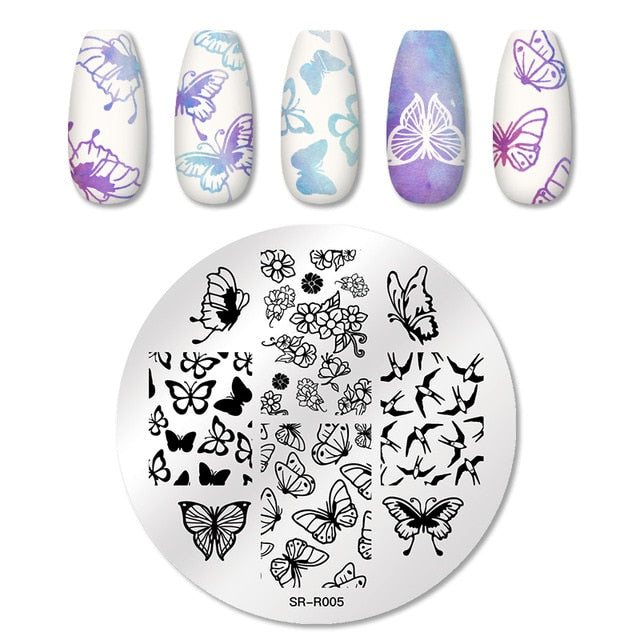 Nail Art Stainless Steel Plate Stencil