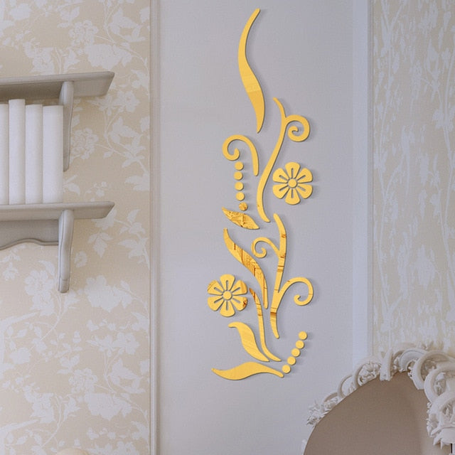 Decorative Sticker Wall Art Mirror
