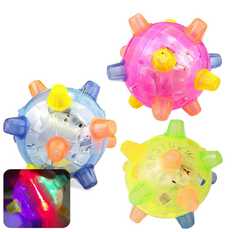 Flashing Dog Ball For Games Kids Ball Led Pets Toys Jumping Joggle Colored Toy
