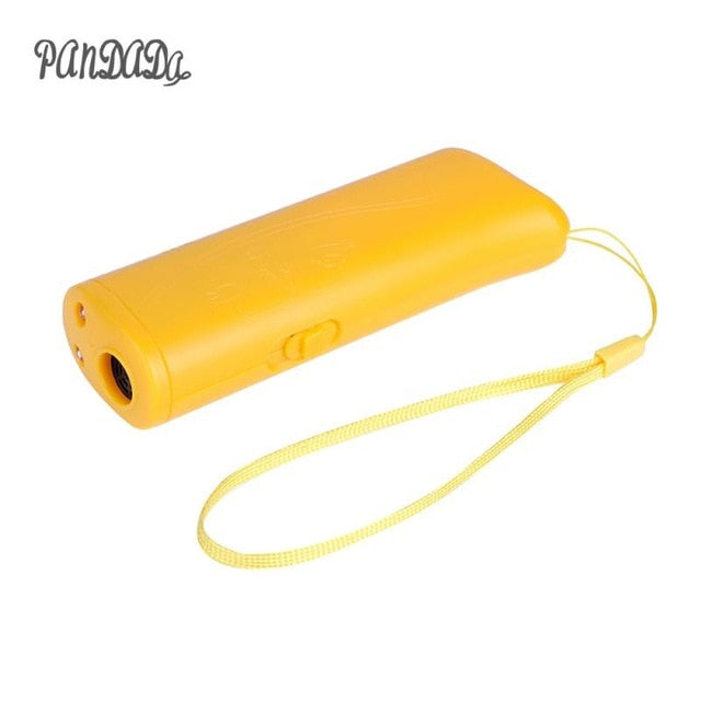 New Ultrasonic Dog Chaser Aggressive Attack Dogs Repeller Pets Trainers LED Flashlight