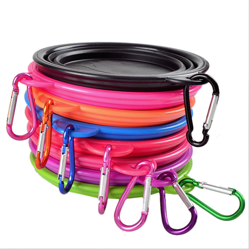 Small Pet Food Bowl Accessories New Portable Foldable Collapsible Pet Cat Dog