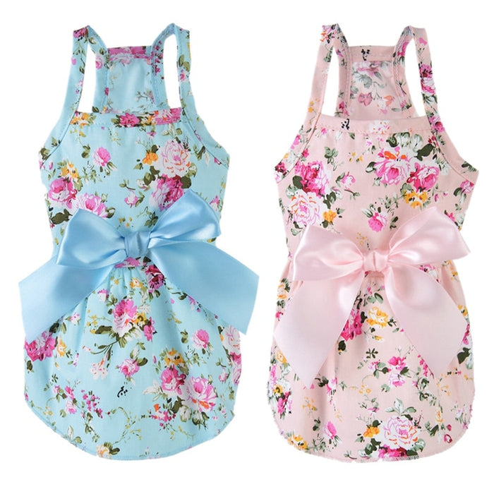 Pet Dog Clothes Dress Sweety Princess Dress Teddy Puppy Wedding Dresses