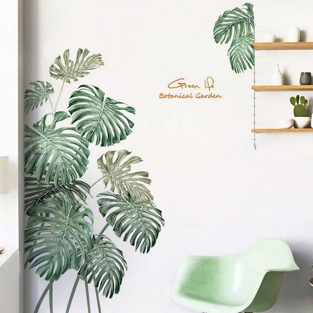 Tropical Palm Leaves Wall Stickers