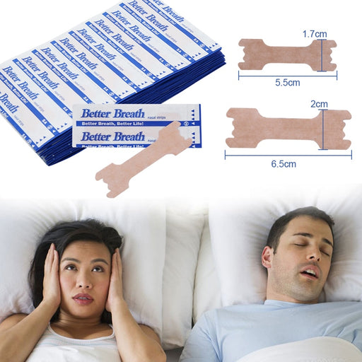 200pcs Anti Snoring Nasal Patch Better Breathe Good Sleeping Nasal Strips