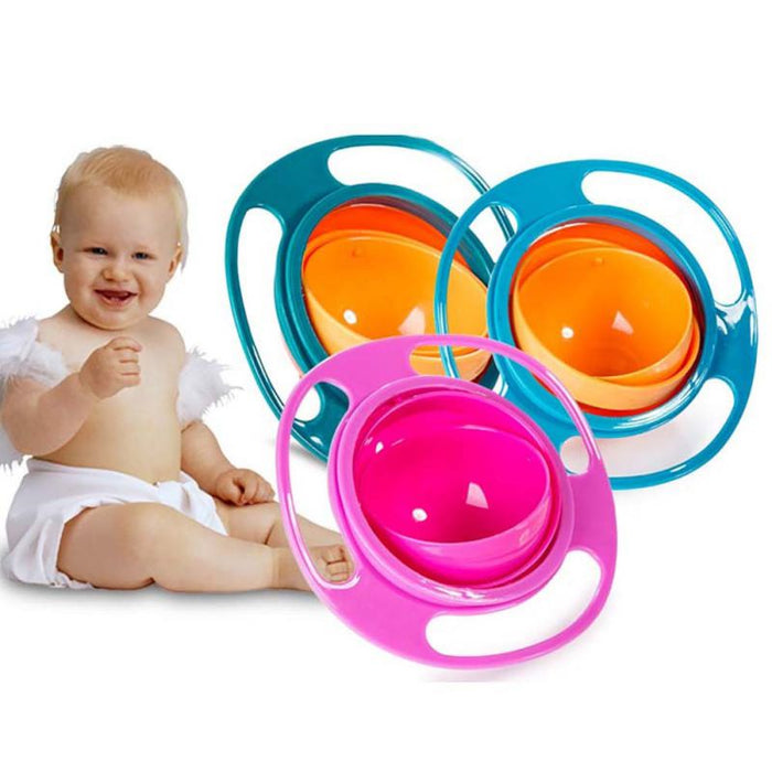 Baby Feeding Dishes Cute Toy Baby Gyro Bowl Universal 360