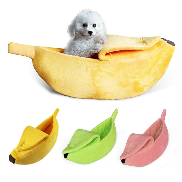 Banana Dog Cat Bed House for Cats Puppy Dog Cozy Puppy Kennel Warm Pet