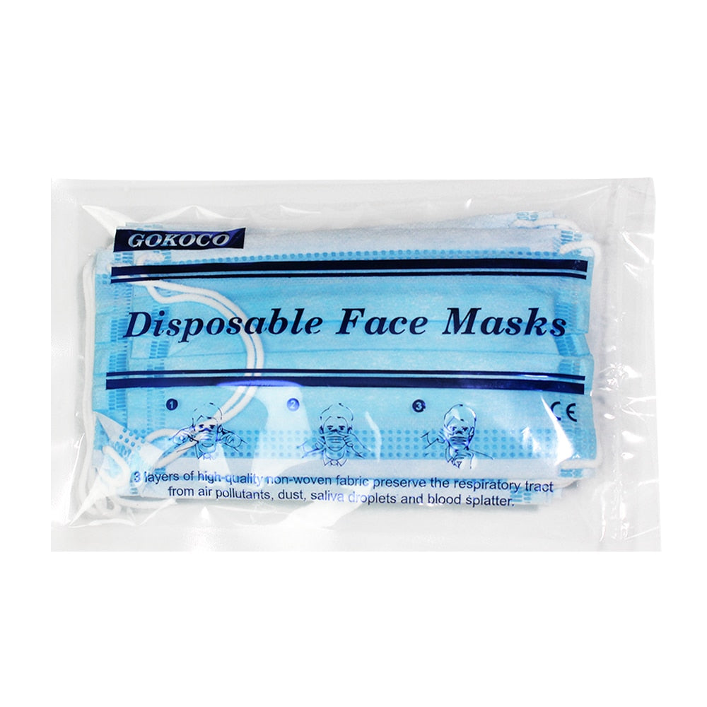 Fast delivery US Shipping Disposable Mask 3 Layers Mouth Mask