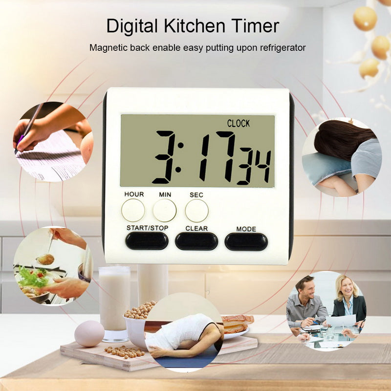 Kitchen Timer 24-Hours Digital Timer Count-Up & Count Down Alarm