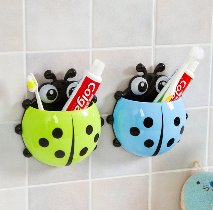 Cute ladybug insect toothbrush holder