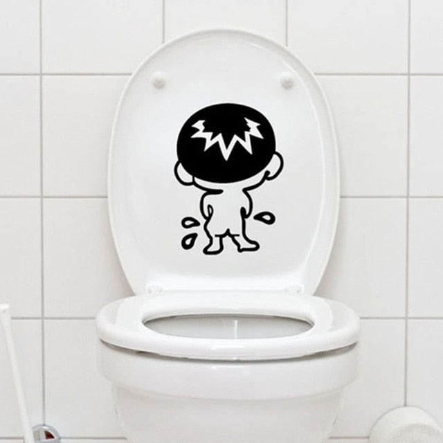 Cute Bathroom Toliet lid Sticker