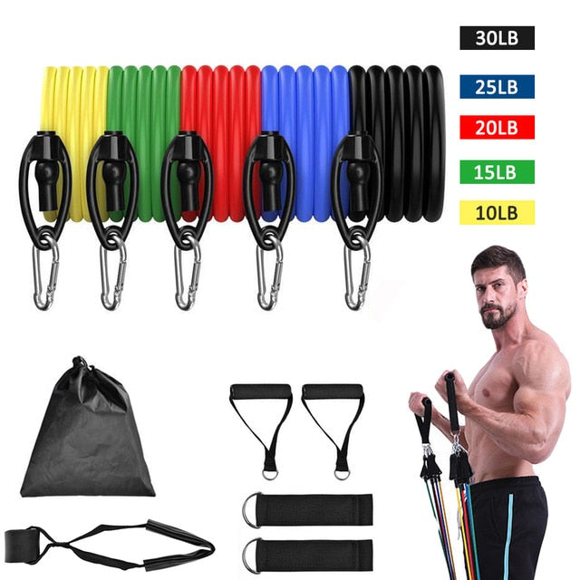 Exercise Bands with Door Anchor Legs