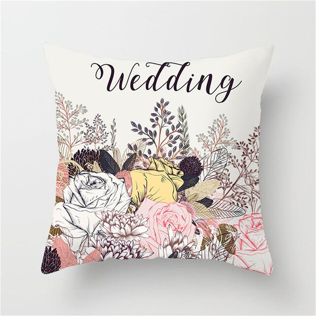 Floral Cushion Cover Olive Classical Bird Wedding Pillow Cover
