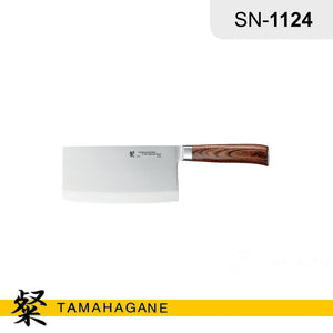 "Tamahagane ""SAN"" Chinese Chopper Knife 185mm (SN-1124) Made in Japan"